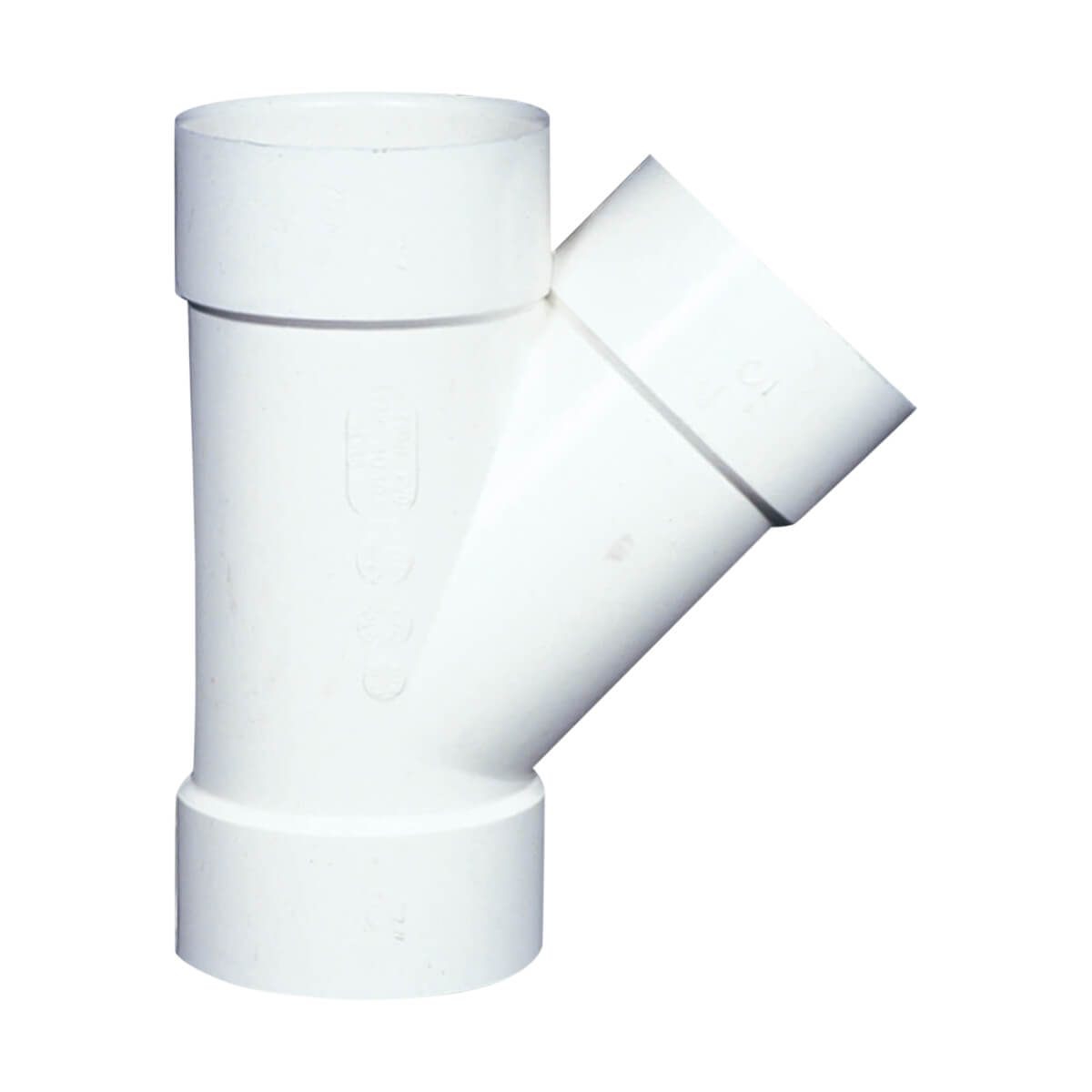PVC-BDS 45° Wye - Hub - 4-in