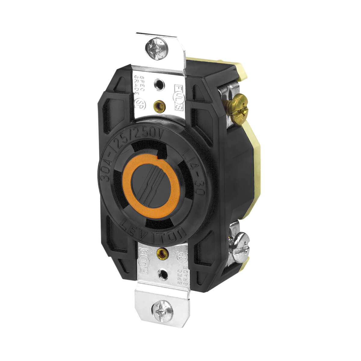 Leviton Flush Mtg Locking Receptacle- 30A 125V