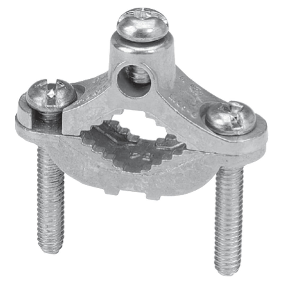 Zinc Ground Clamp  - 1/2-in to 1-in pipe