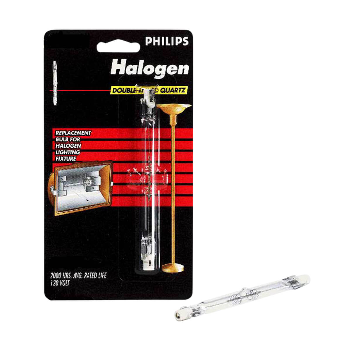 Philips Halogen Tube 300W T3 Quartz 119 mm - 2 pack
