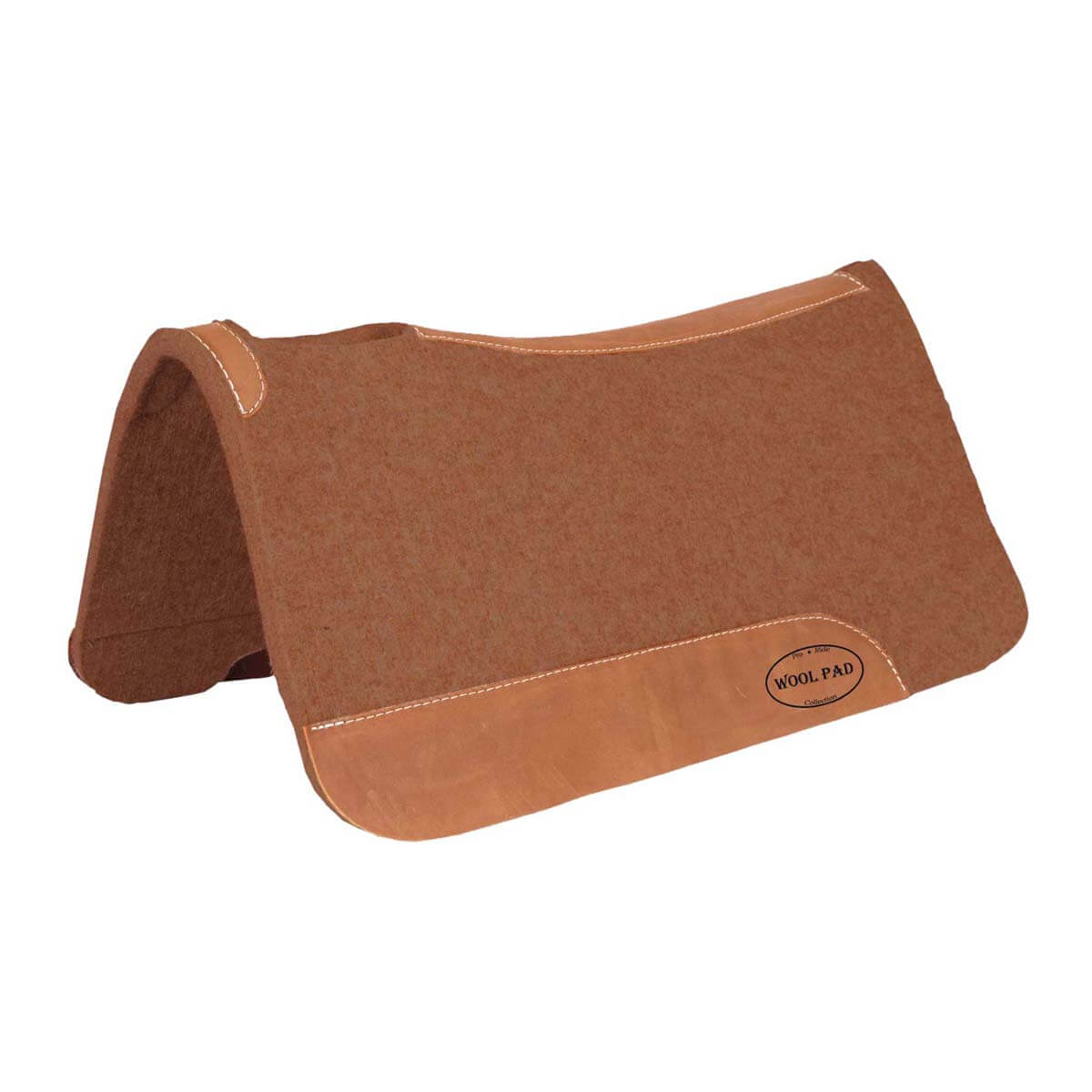100% Wool Contoured Saddle Pad - Tan
