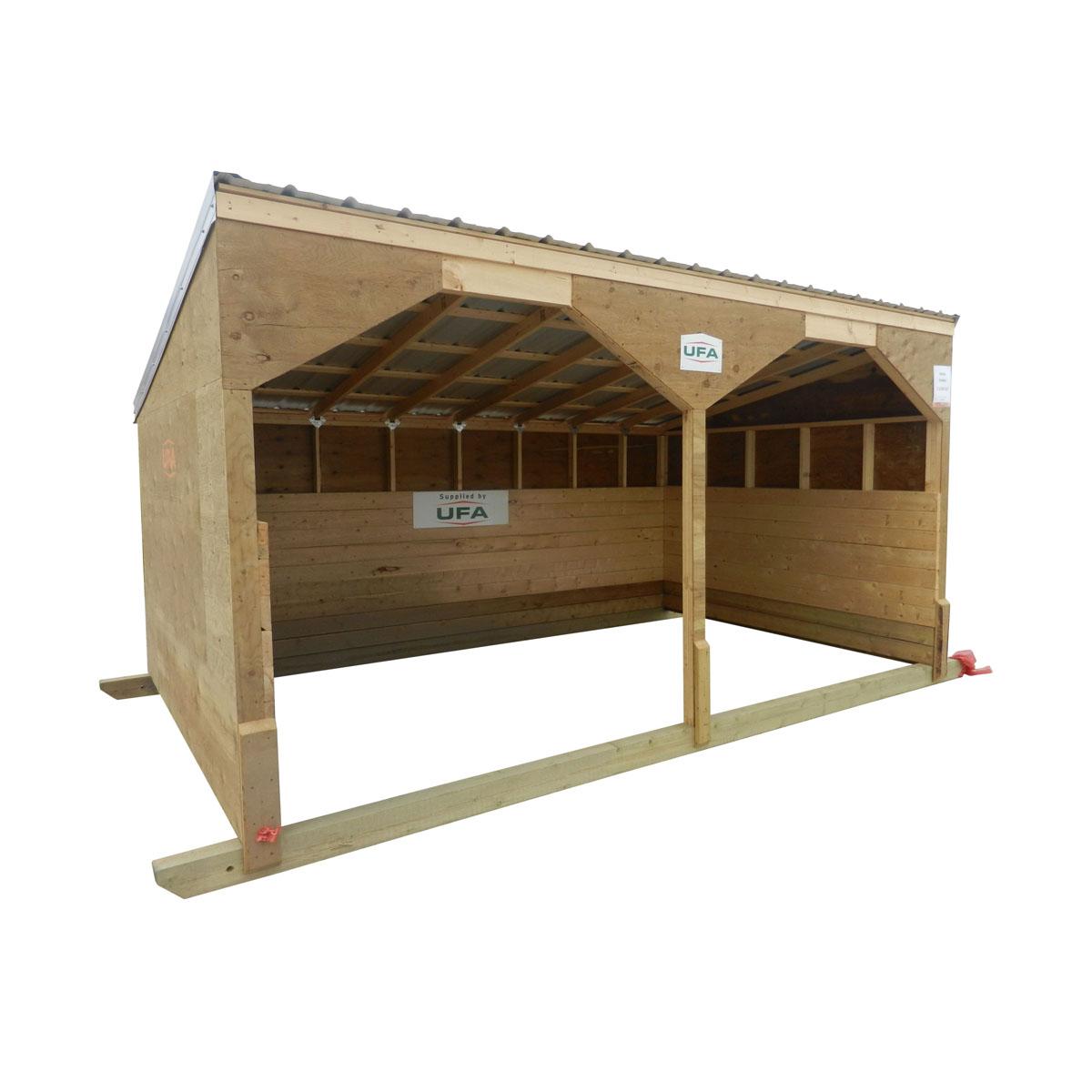 10'x16' Cattle Shelter (8' Front 6' Back)