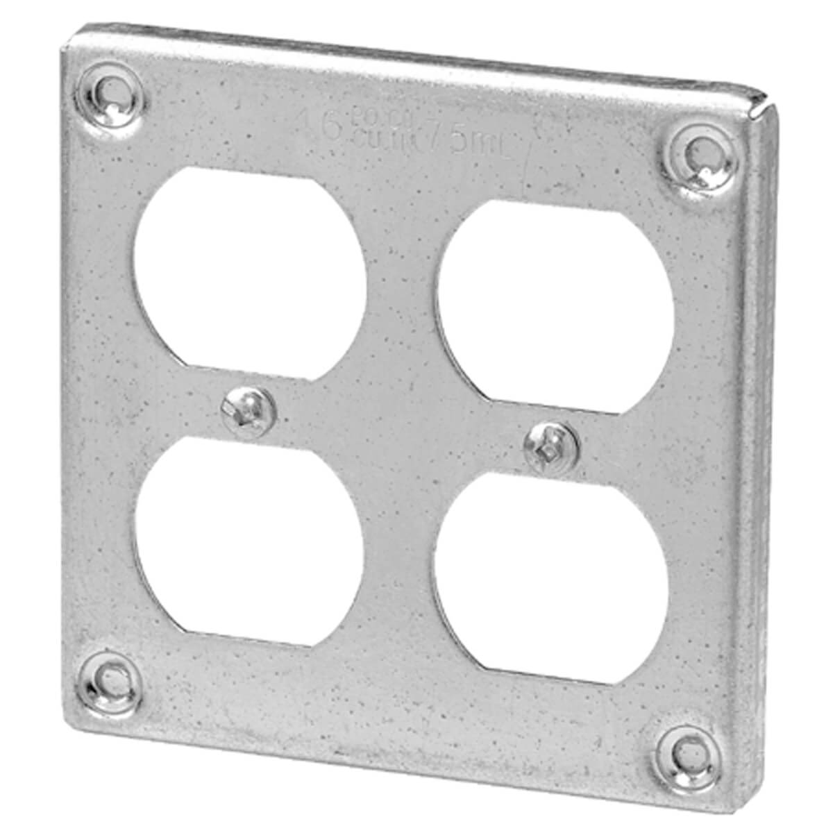 Square Surface Cover Two Duplex - 4-in