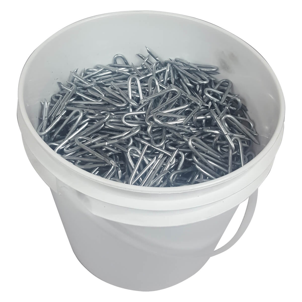 "Barbed Fence Staples - 1-3/4"" • 30 lb. pail"