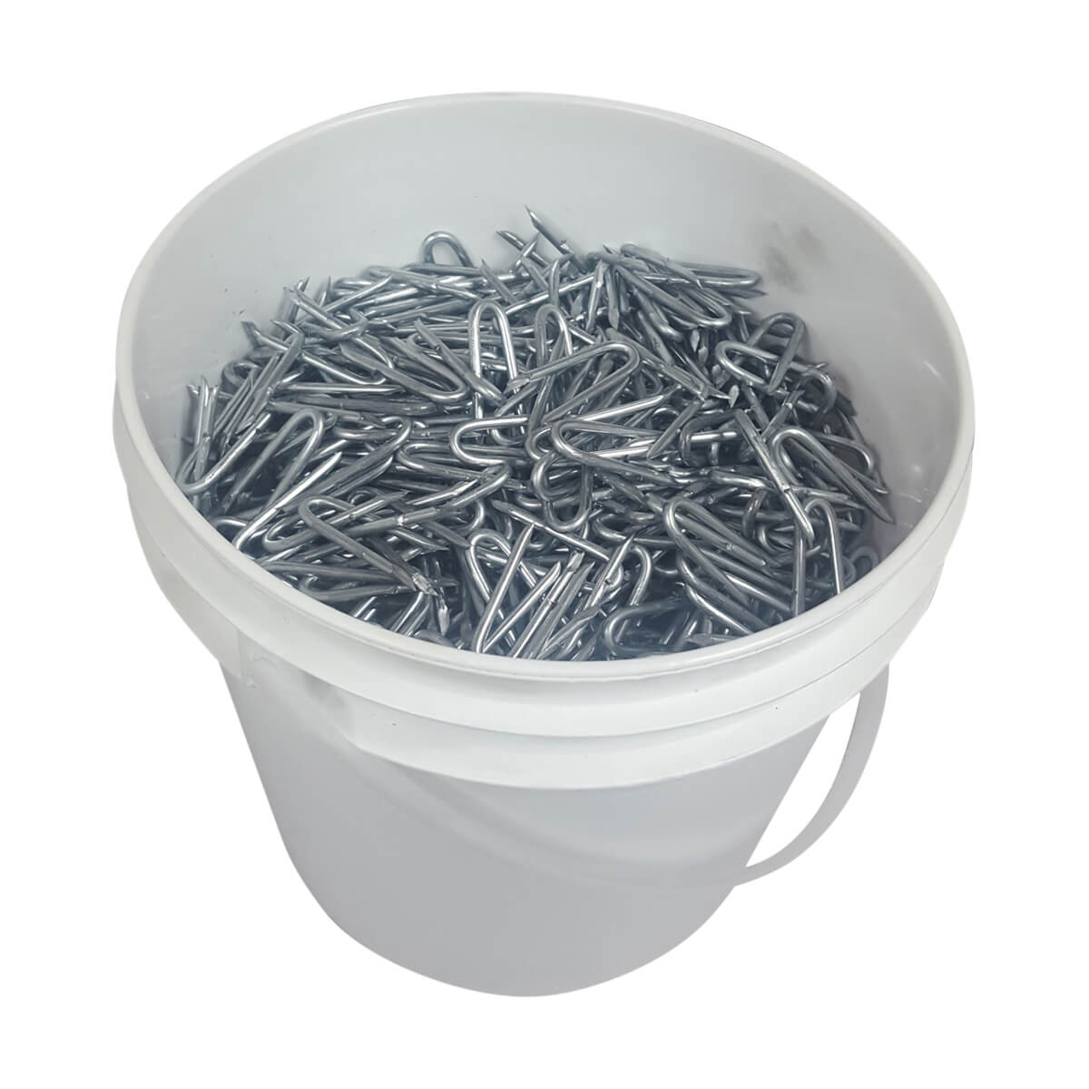 "Barbed Fence Staples - 2"" • 30 lb. pail"