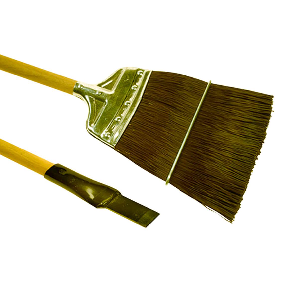 """Fiberbuilt Upright Track Broom & 8"""" Steel Chisel"""