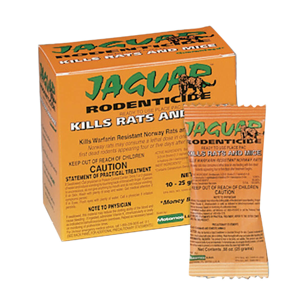 Jaguar Rodenticide - 10 x 20 grams