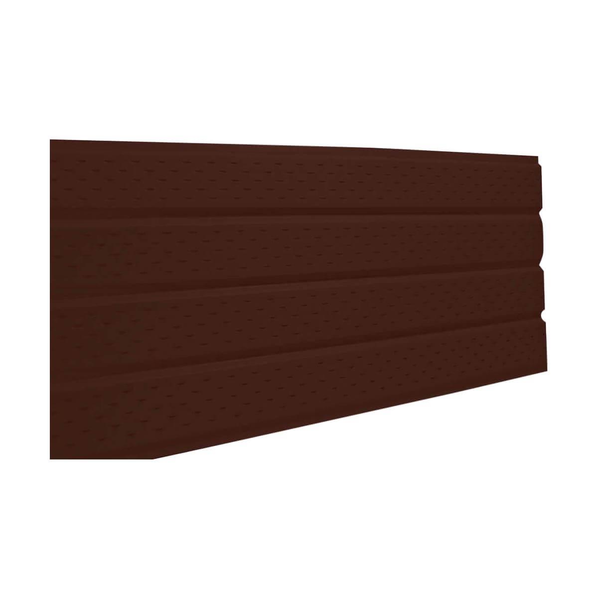 4 Panel Aluminum Soffit - Vented - Brown