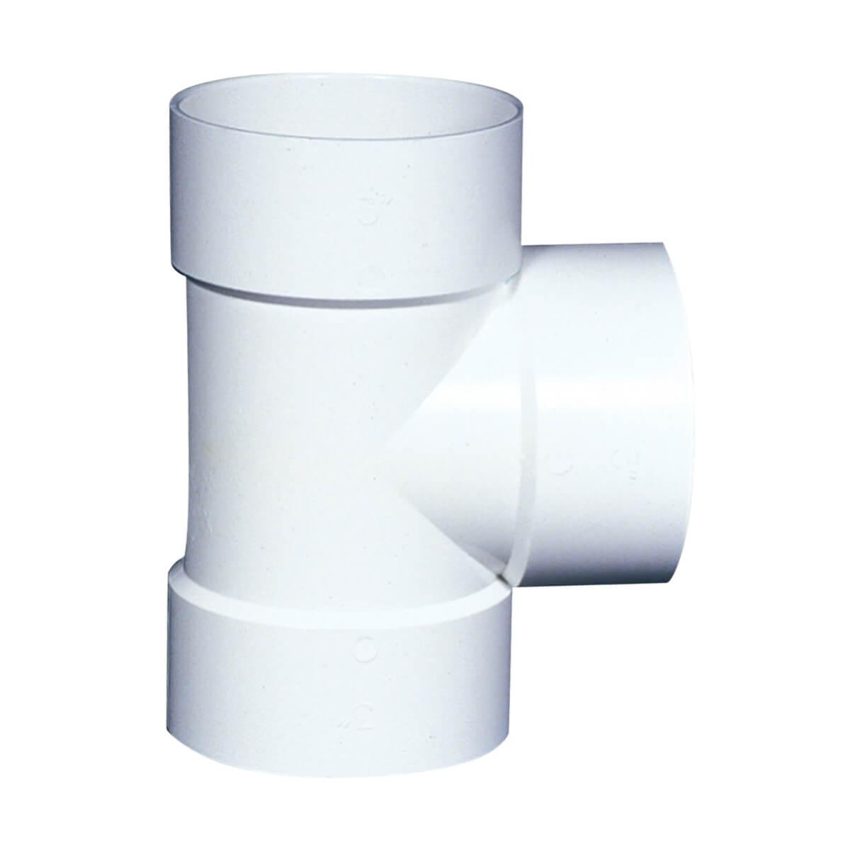PVC-BDS Straight Tee - Hub - 4-in