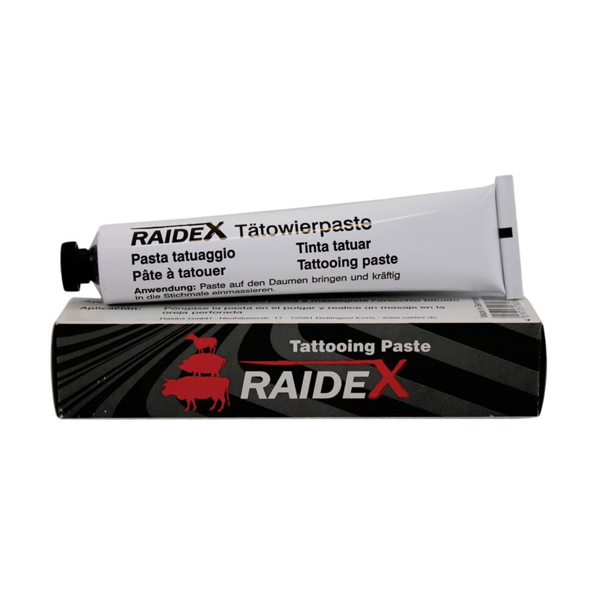 Raidex Tattoo Paste Tube - Black - 60g