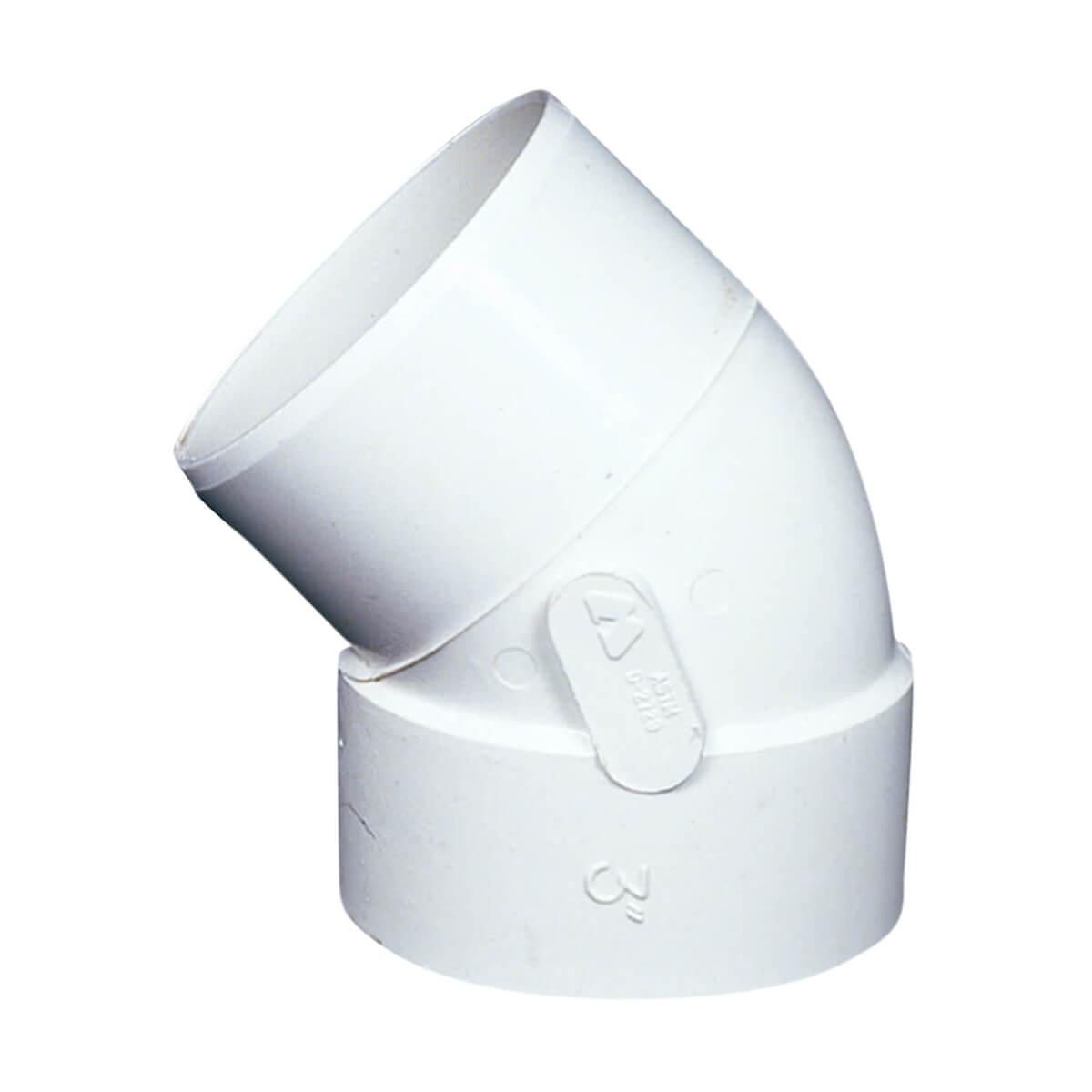 PVC-BDS 45° Elbow - Hub x Spigot - 4-in