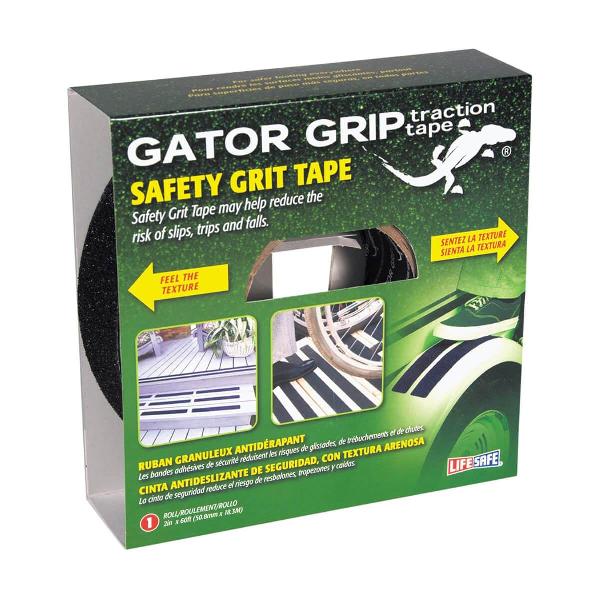 "2"" x 60' Black Gator Grip® Anti-Slip Safety Grit Tape"