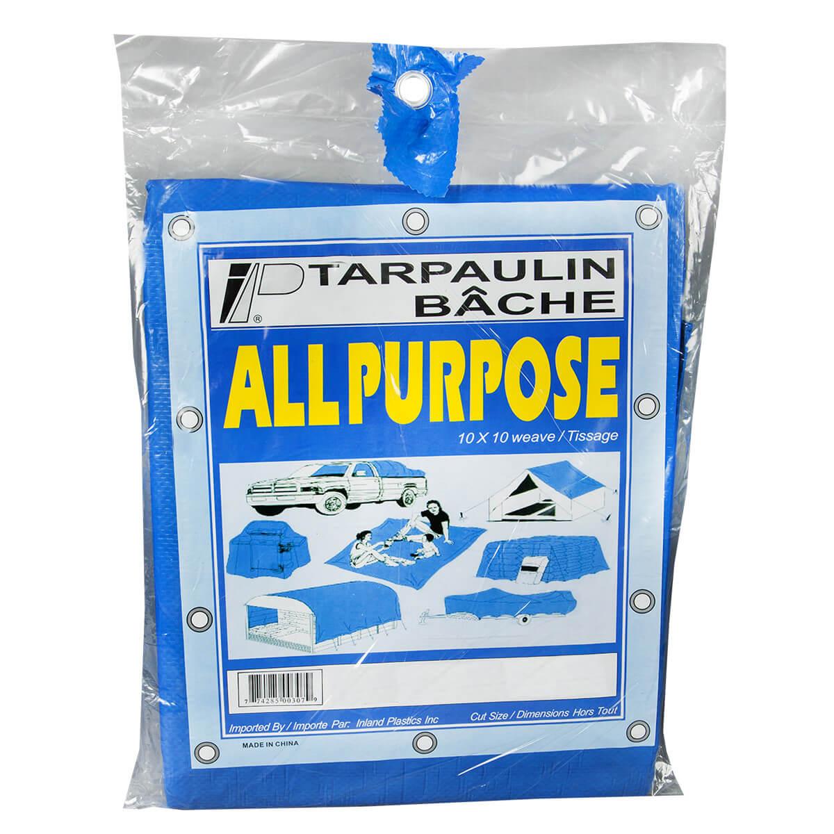 All Purpose Blue Utility Tarps - 10' x 12'