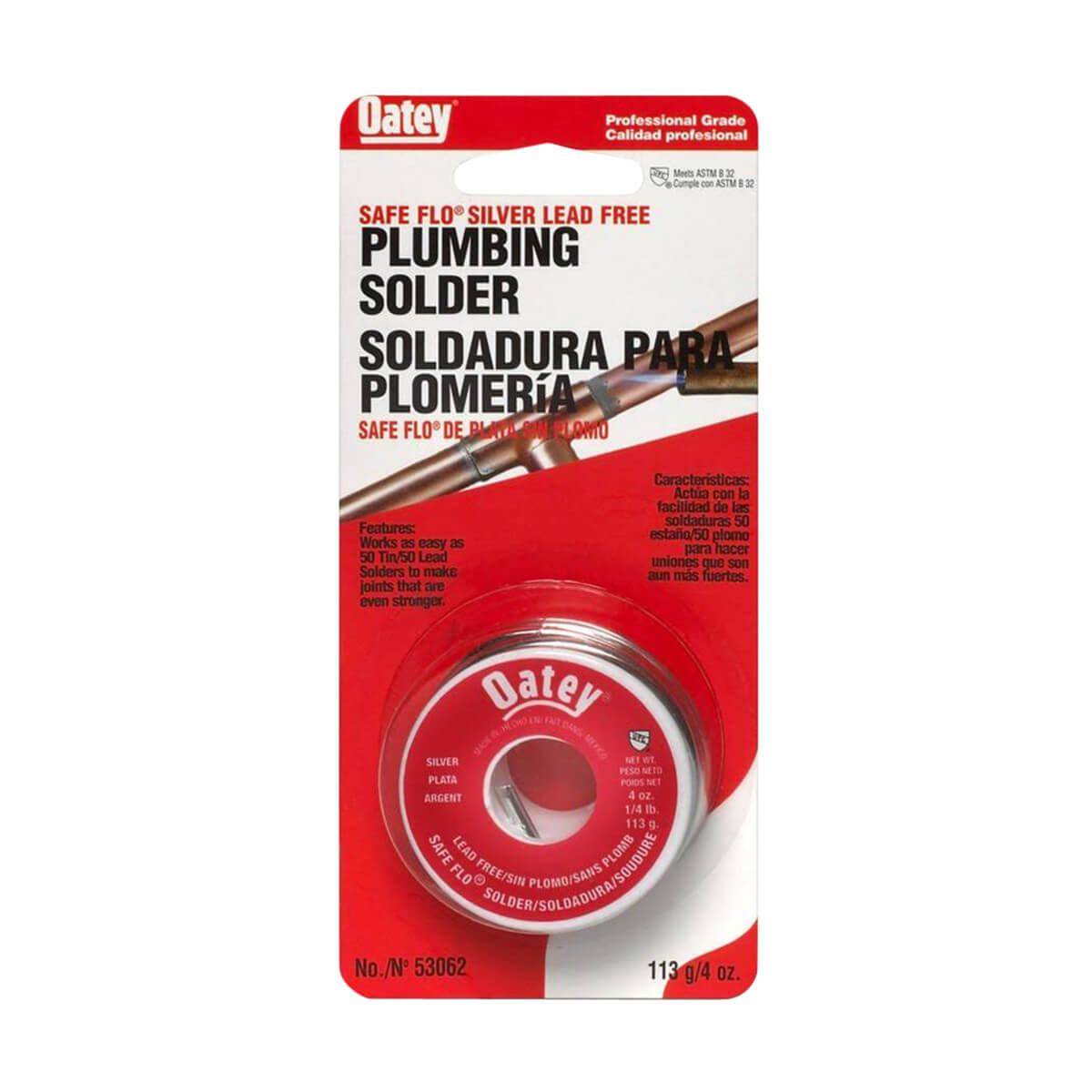 Oatey 48312 Safe-Flo Plumbing Solder Wire - 113 g