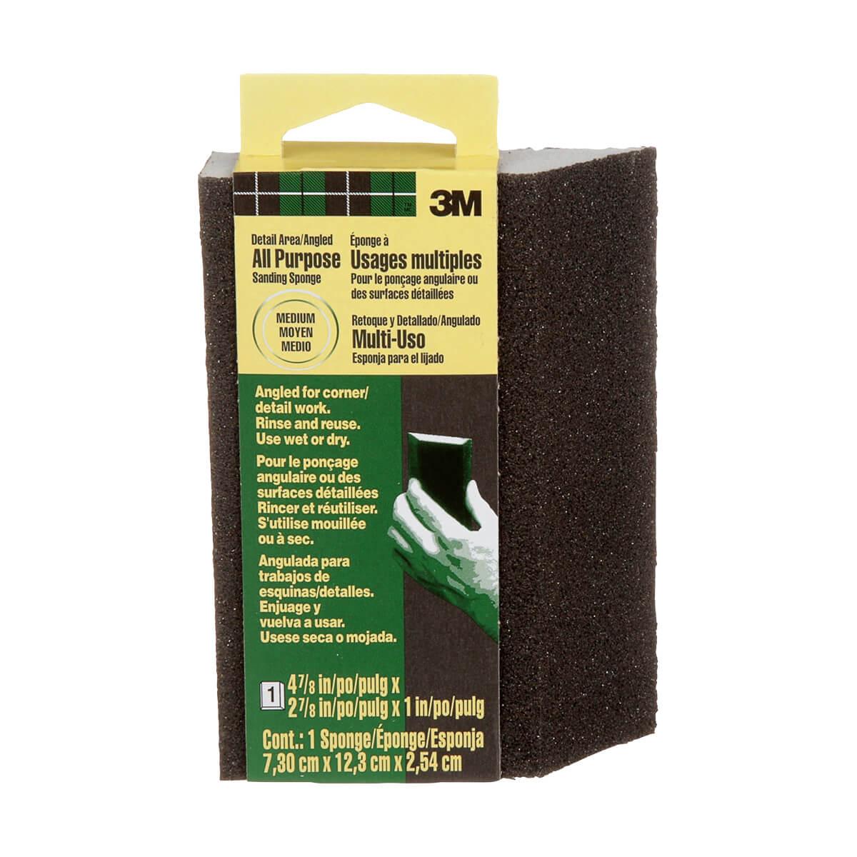 3M Angled Sanding Sponge - Medium Grit