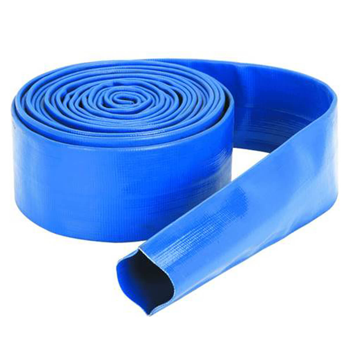 """Blue Lay Flat Discharge Hose - 1-1/2"""" (price per foot)"""