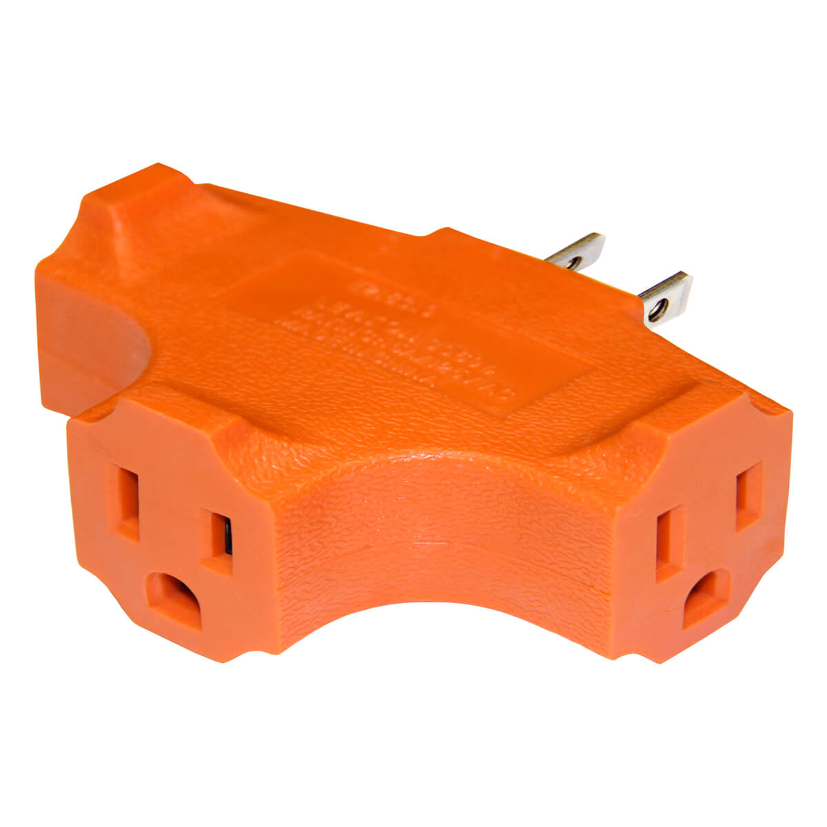 Leviton Heavy Duty Grounded Triple Outlet Adapter  - 0694-740