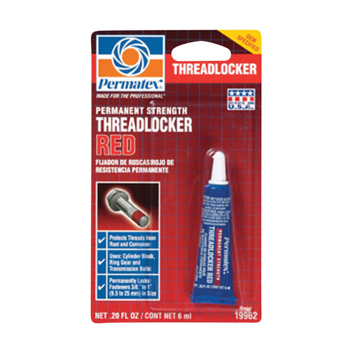 Permatex® /manent Strength Threadlocker RED - 6 mL