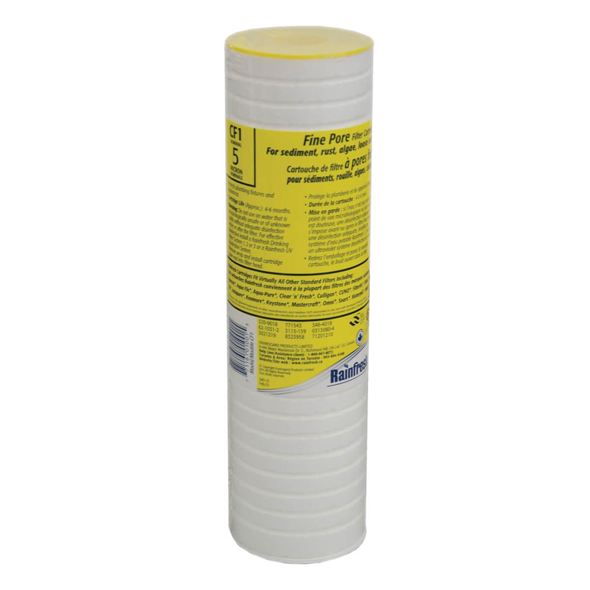 Rainfresh Fine Pore Sediment Filter Cartridge 5 Micron - CF1