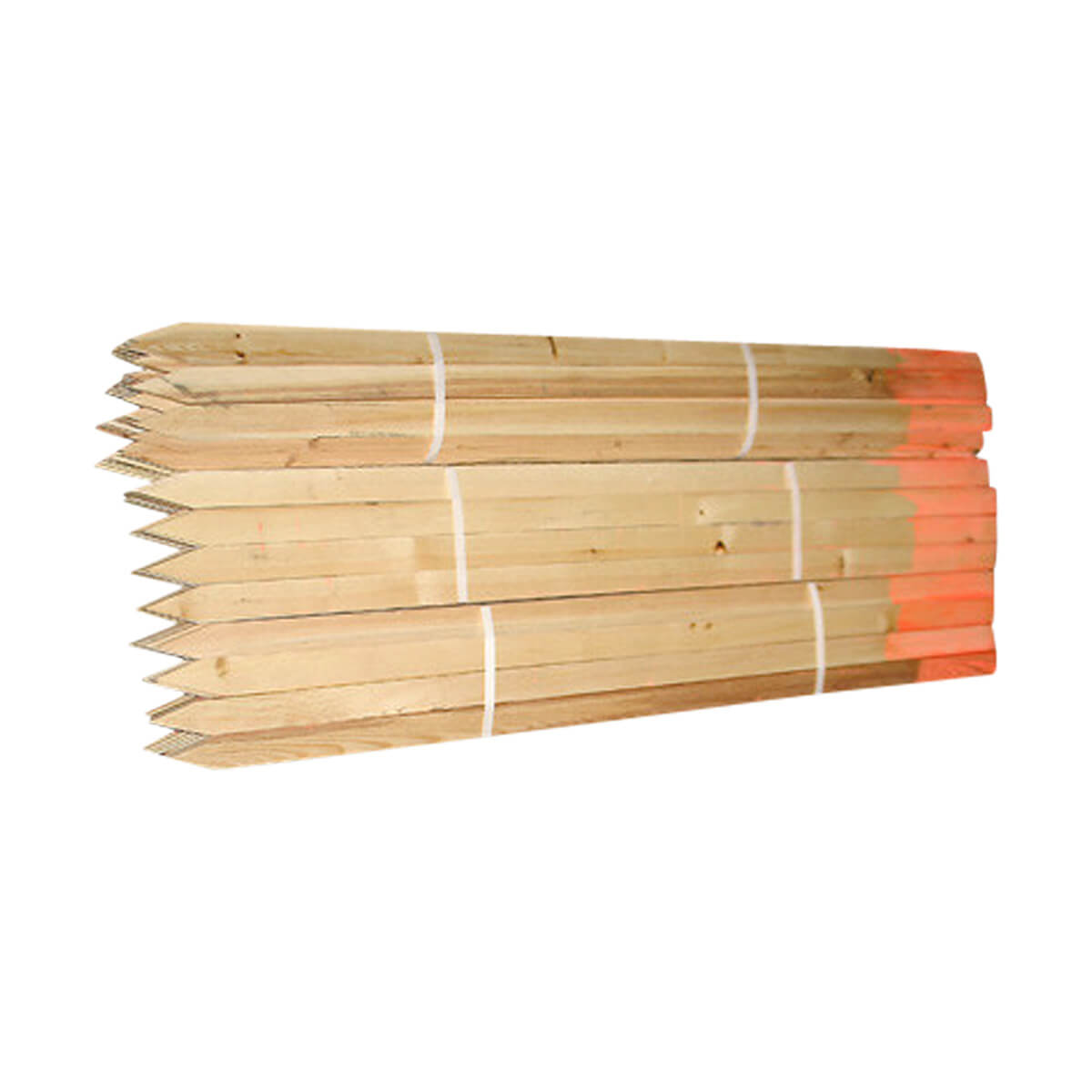 Sharpened Painted Lath - 3/8-in x 48-in - Orange Top