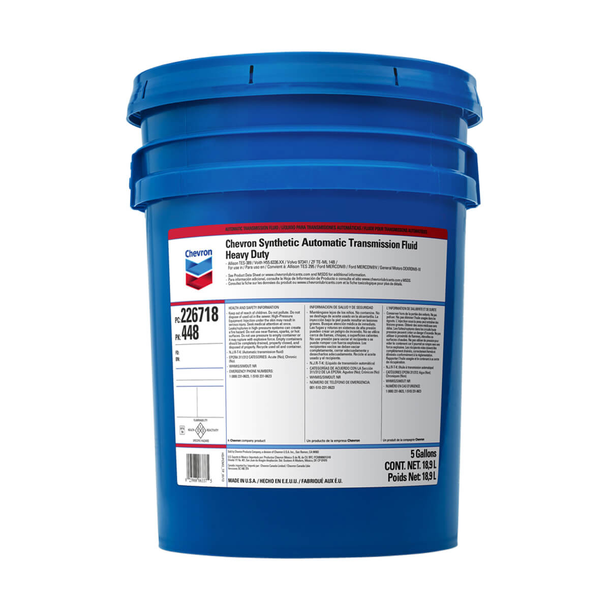 Chevron Synthetic ATF Heavy Duty - 18.9L