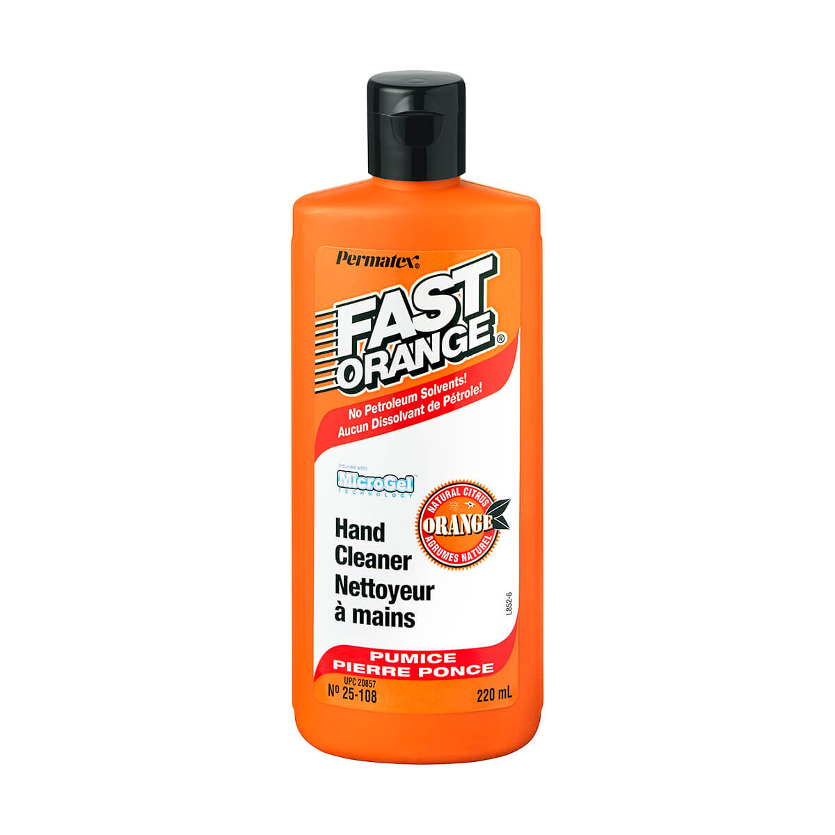 Fast Orange Hand Cleaner - 225 ml - with Pumice