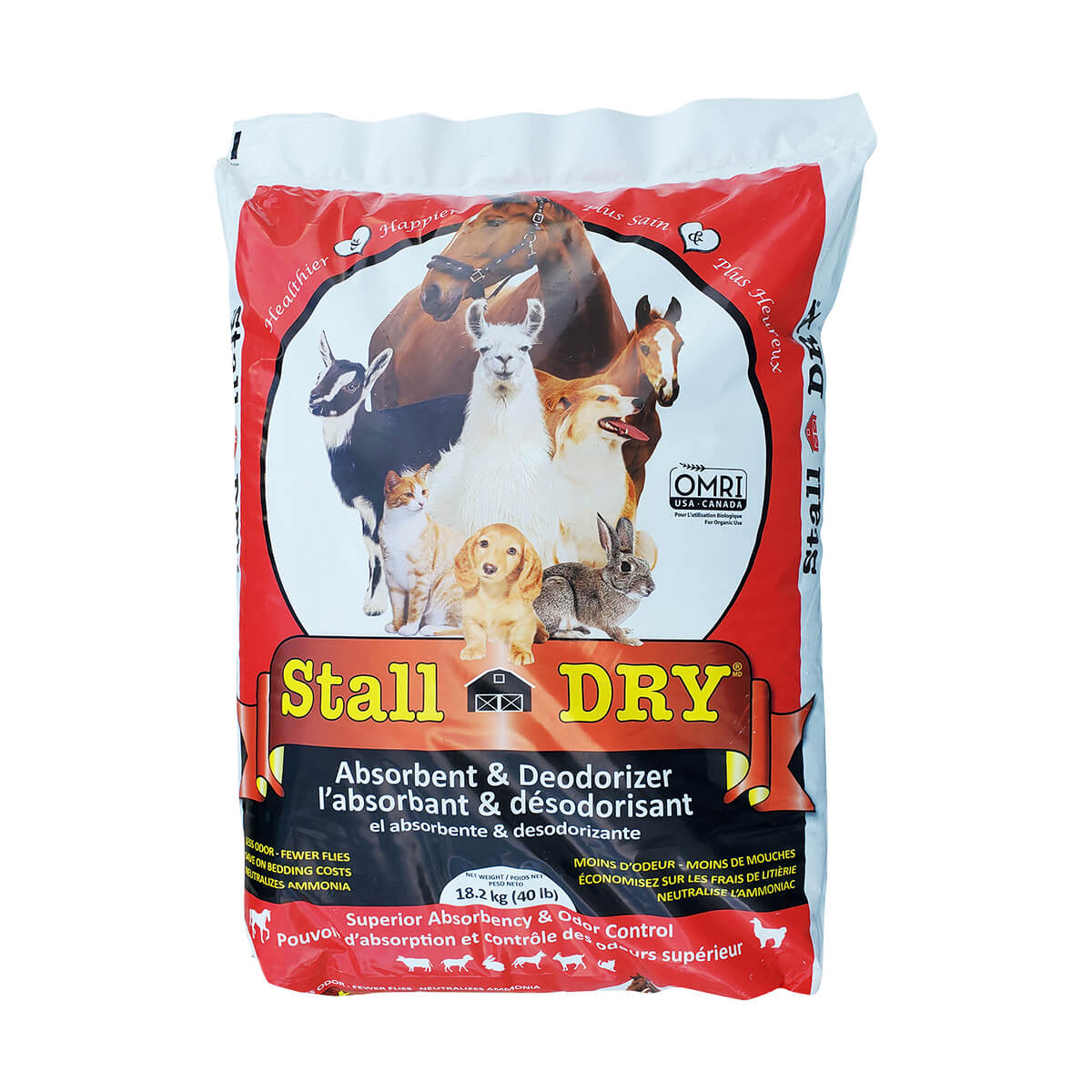 18 kg Stall Dry Absorbent & Deodorizer