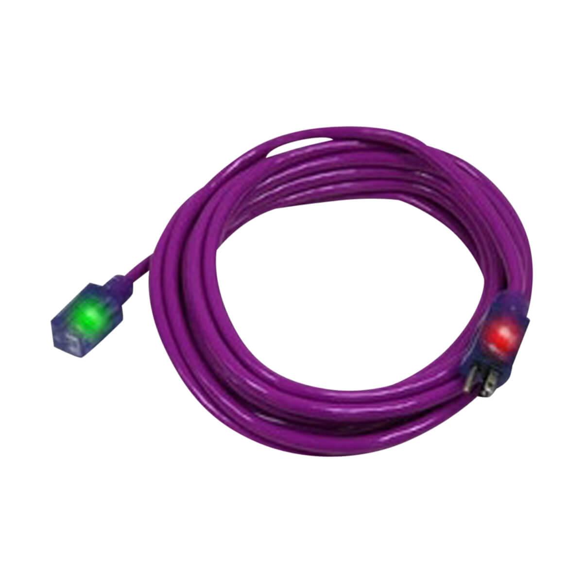 Pro Glo® Extension Cord 100' - Purple