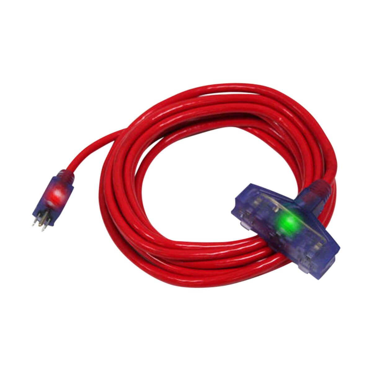 100' Pro Glo® (300V) Triple Tap Extension Cord (CGM) - 12/3 - Orange - 100'