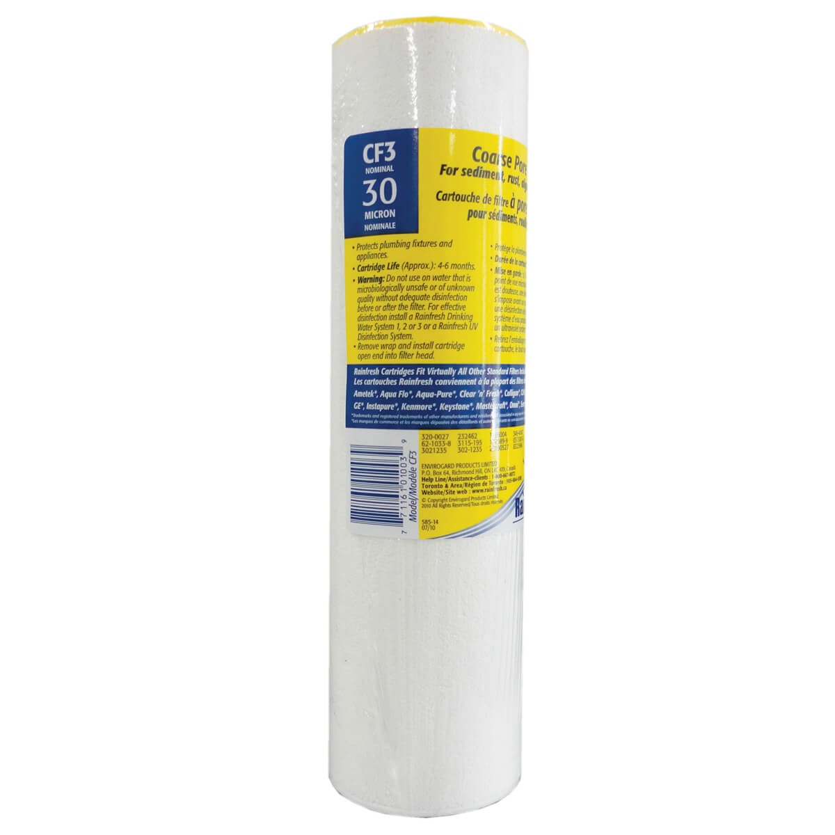 Rainfresh Coarse Pore Sediment Filter Cartridge - CF3