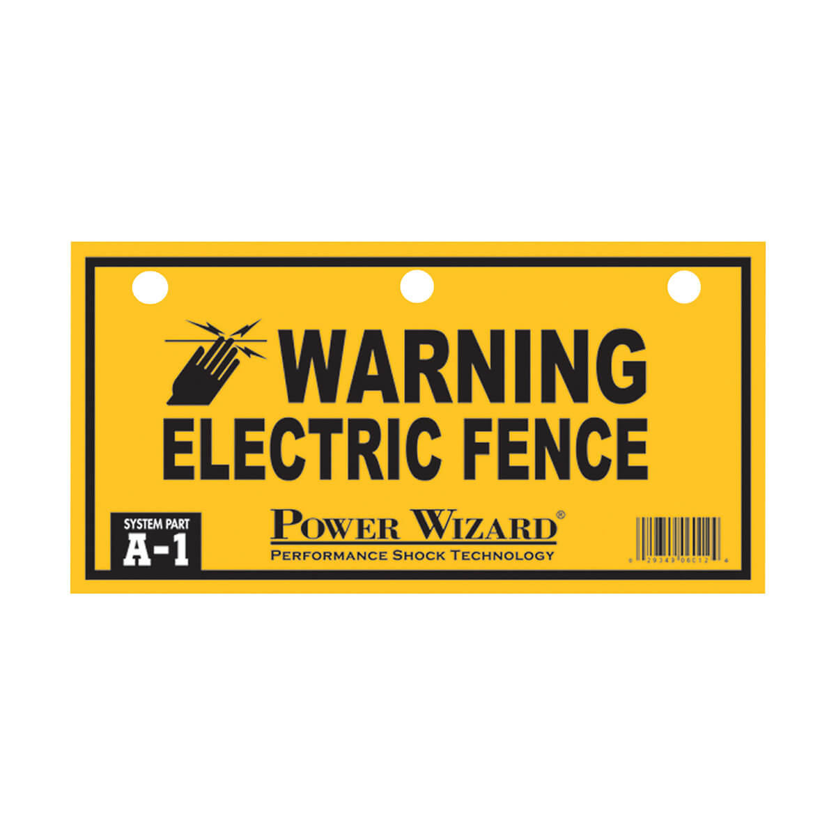 Power Wizard Electric Fence Warning Sign