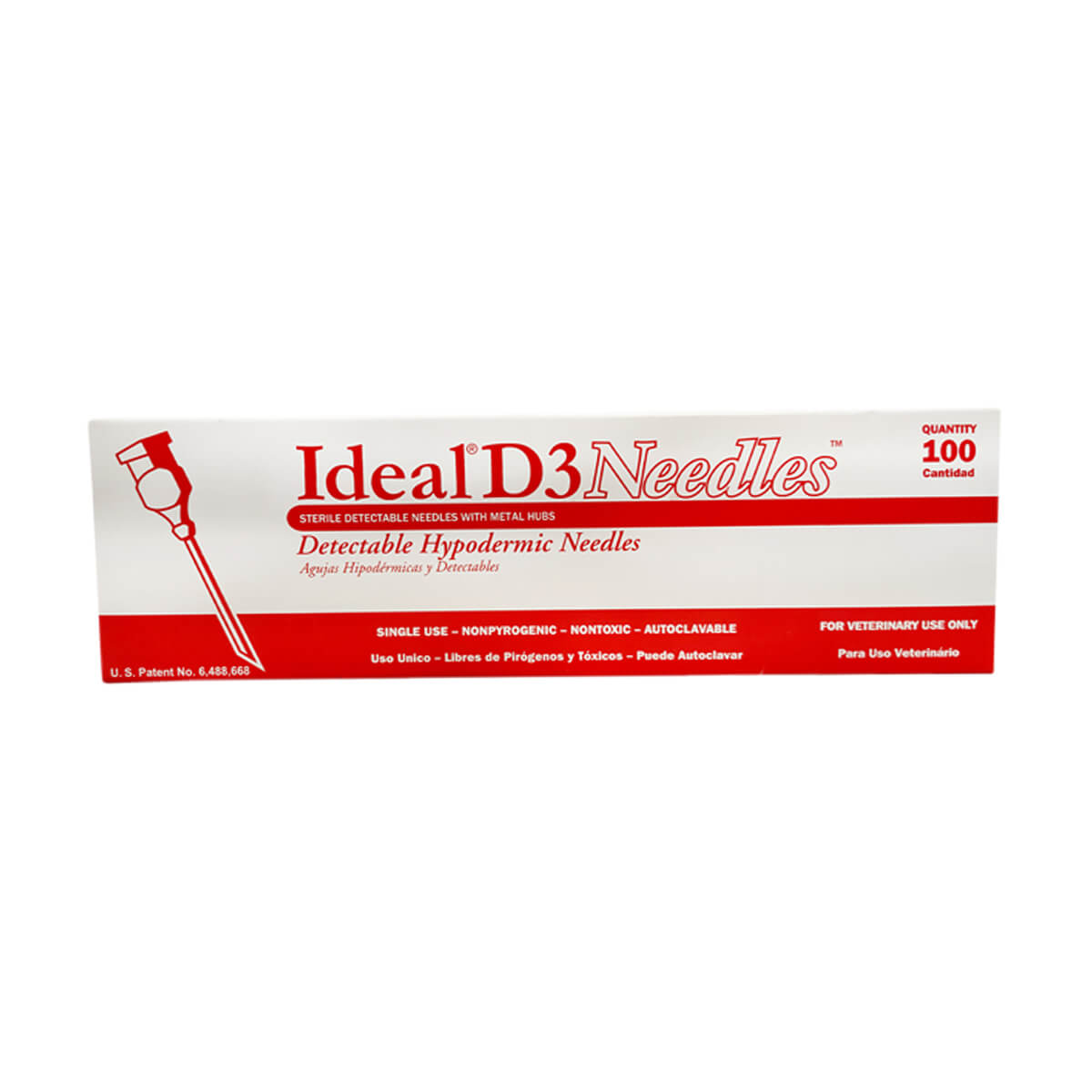D3 Detectable Needles 100 Pack - 18 x 5/8-in