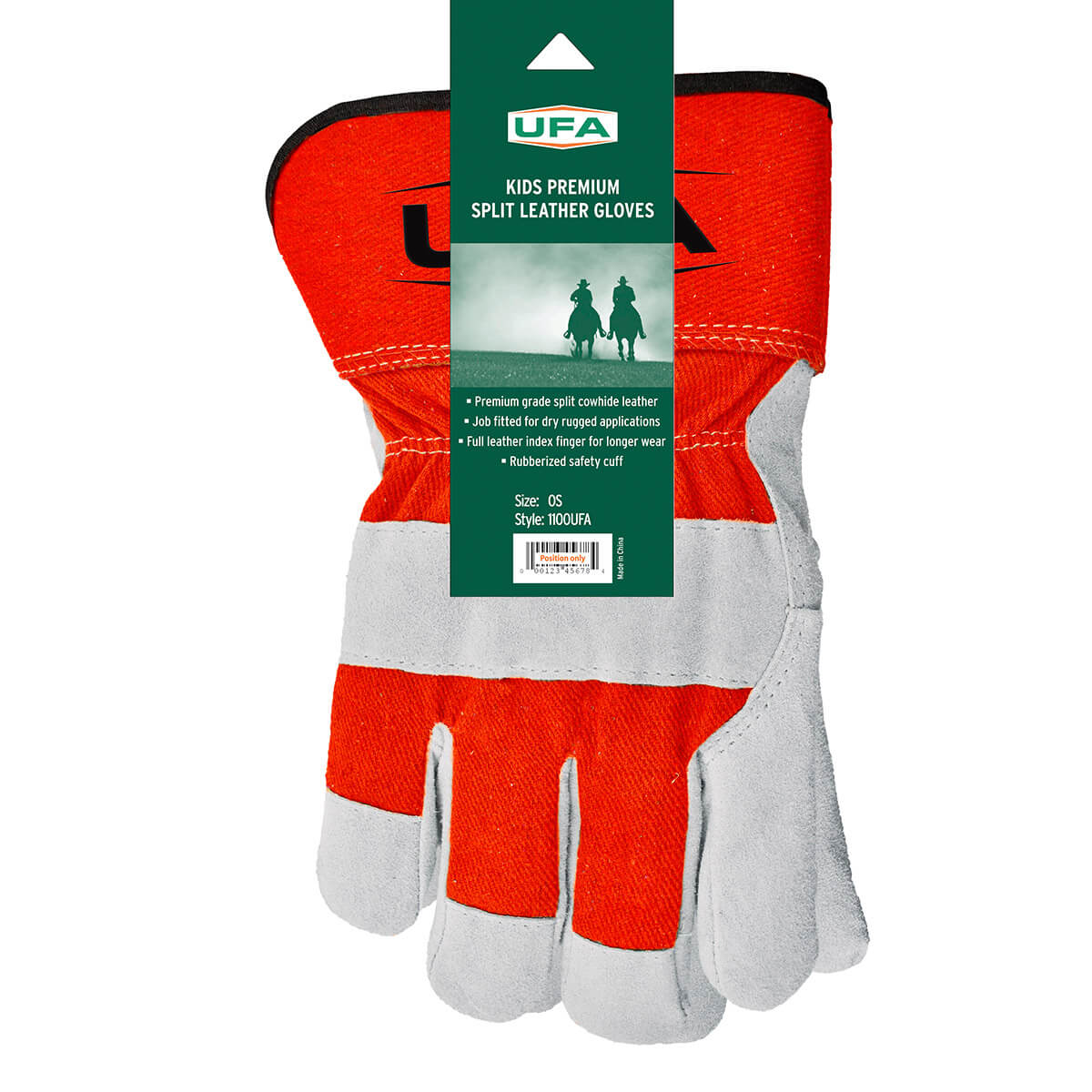 UFA Children's Premium Split Leather Gloves