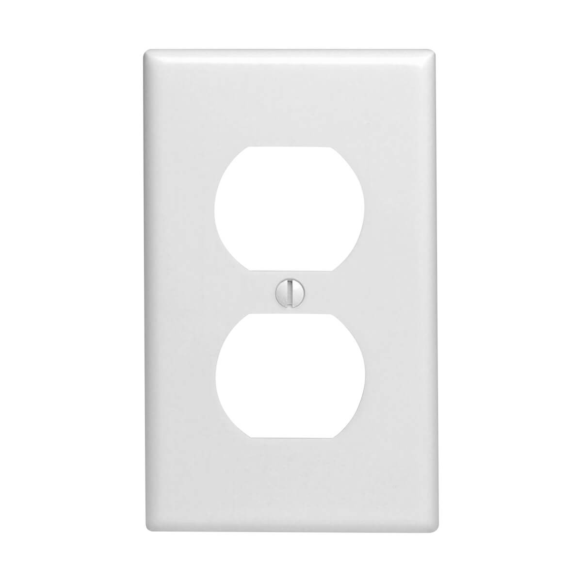 Leviton Smooth White Duplex Receptacle Wall Plate - Standard