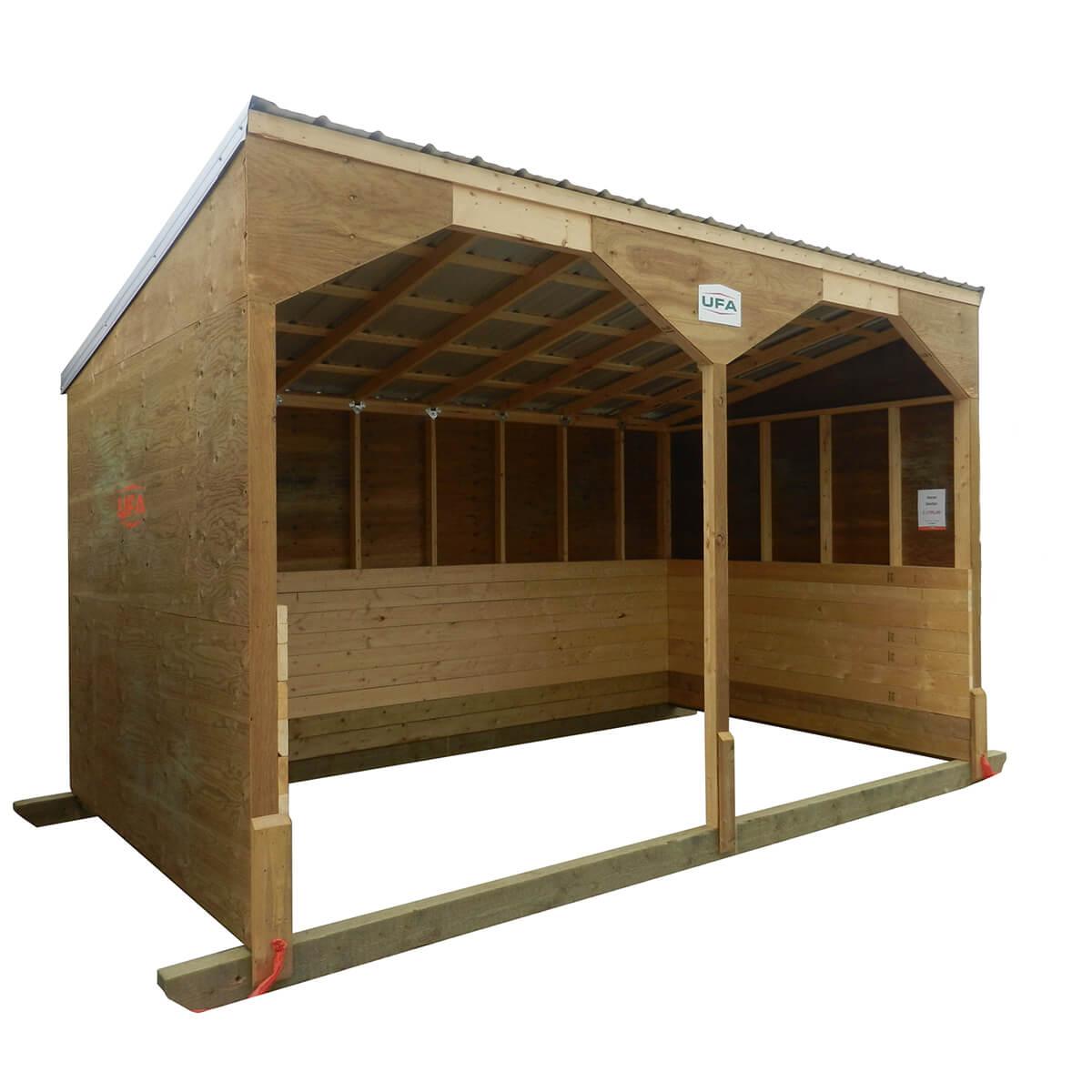 Horse Shelter 10'x16' (10' Front 8' Back)