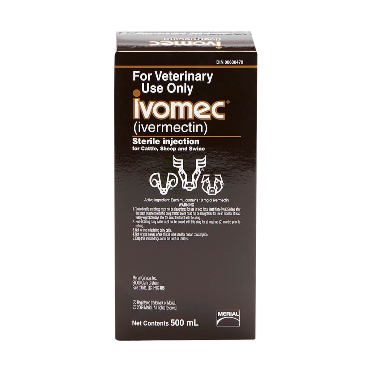Ivomec® Injection for Cattle, Sheep and Swine 500 mL