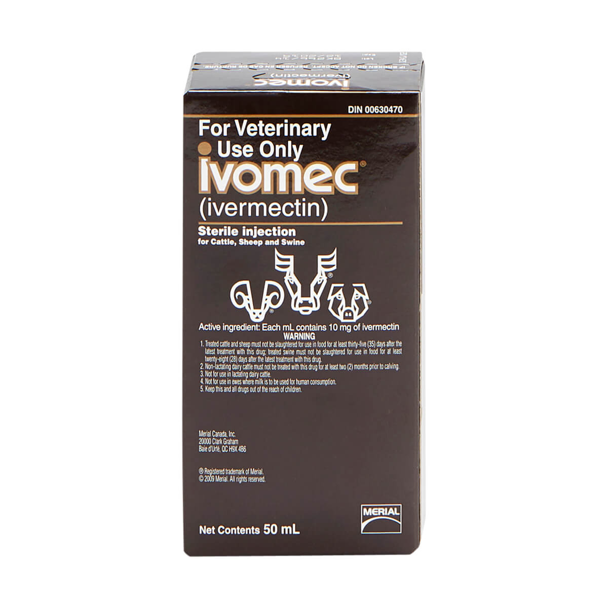 Ivomec® Injection for Cattle, Sheep and Swine 50 mL