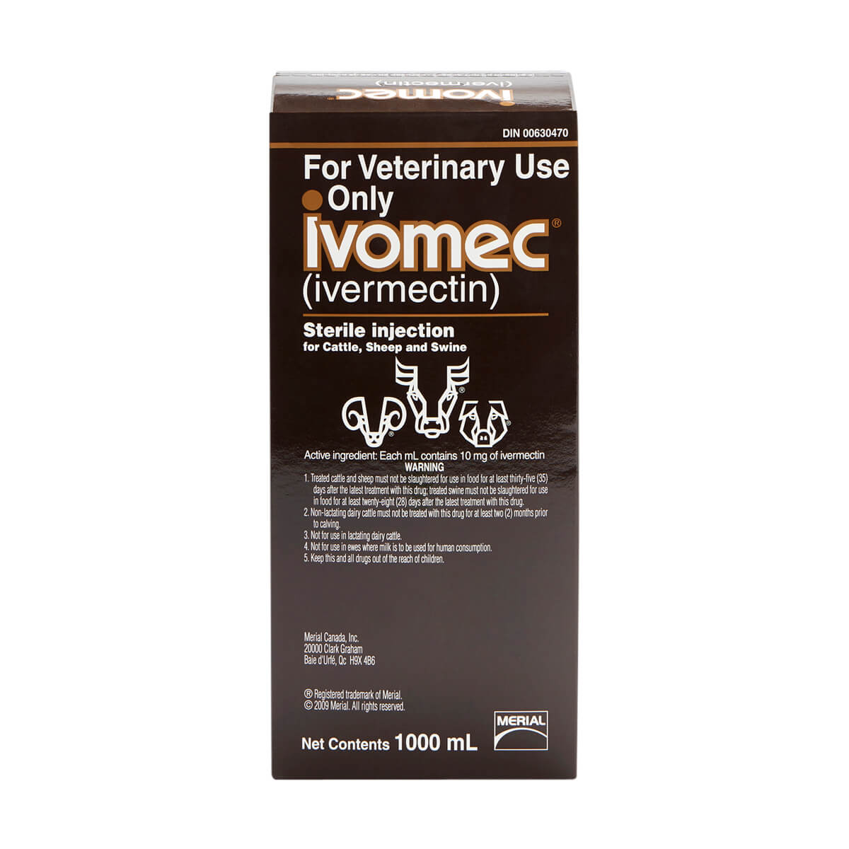 Ivomec® Injection for Cattle, Sheep and Swine 1 L