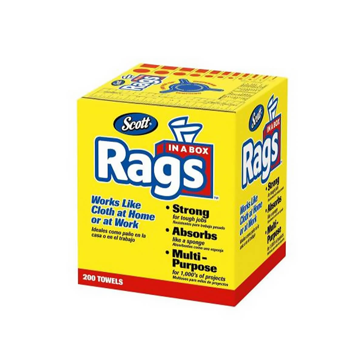 """Rags In A Box - 10"""" x 14"""" - 200 Pack"""