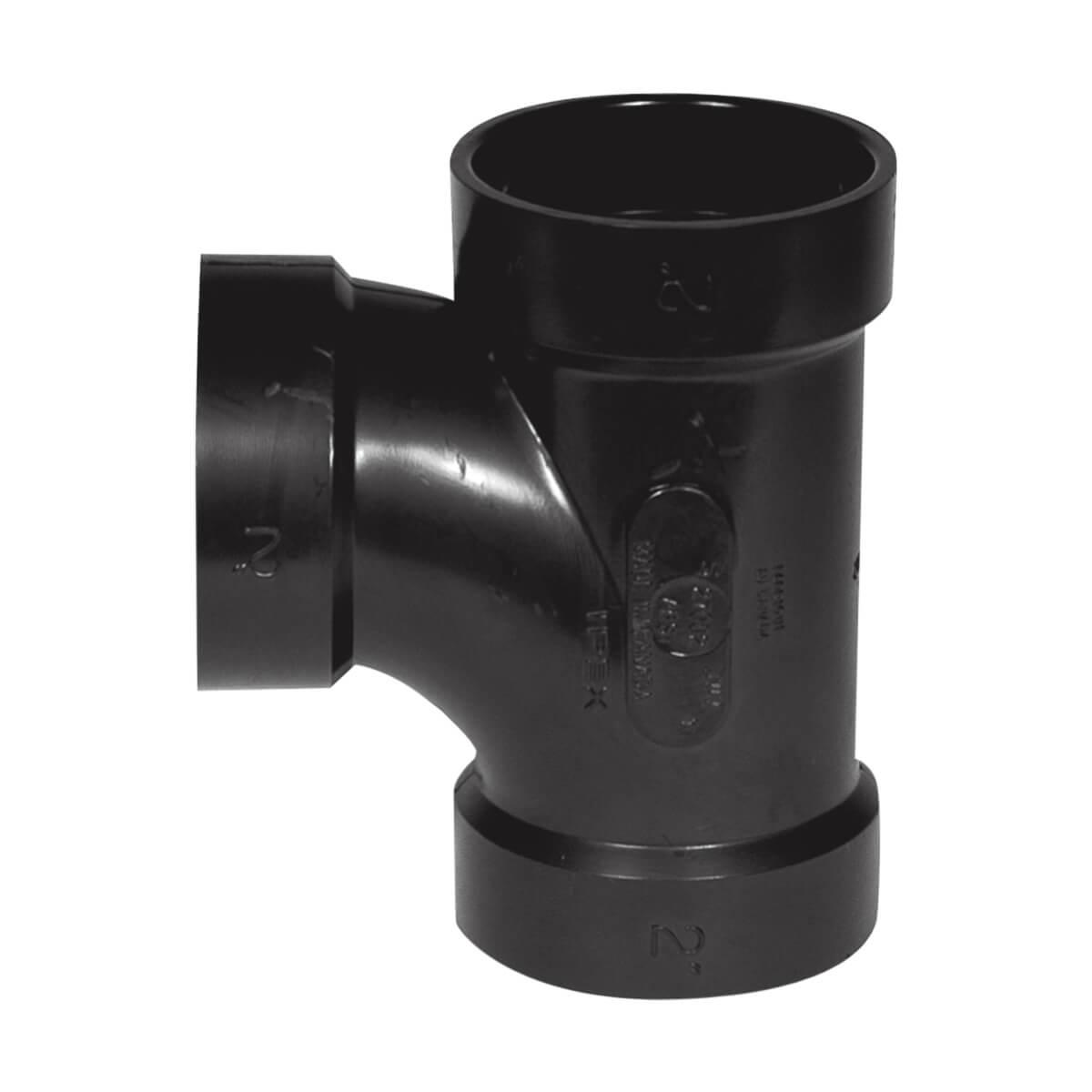 ABS-DWV Sanitary Tee - Hub - 1-1/2-in