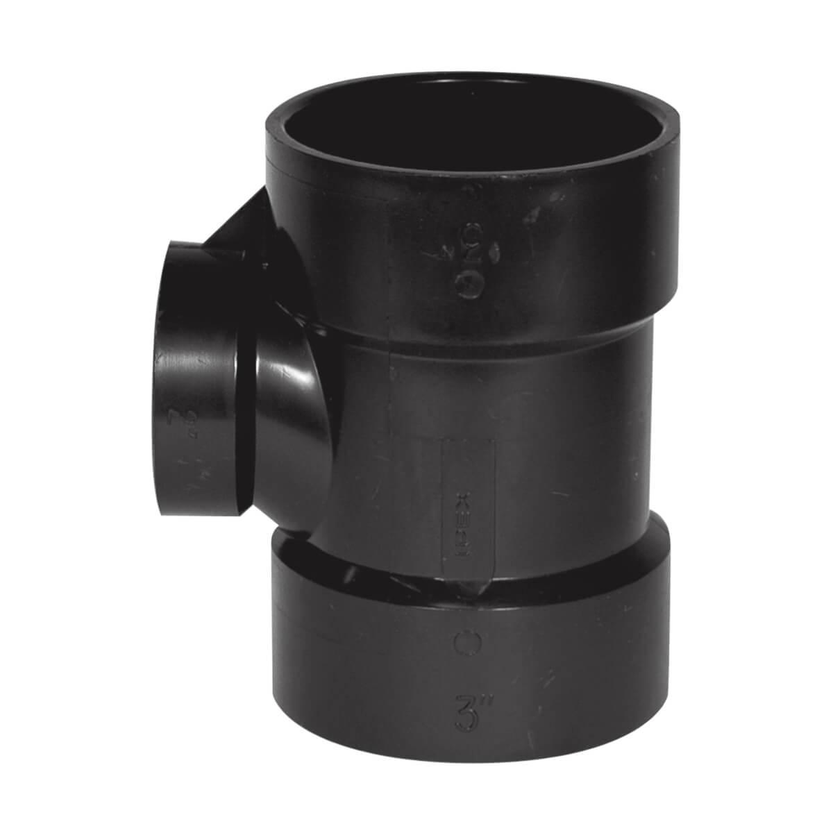 ABS-DWV Sanitary Tee - Hub - 3-in x 3-in x 1-1/2-in