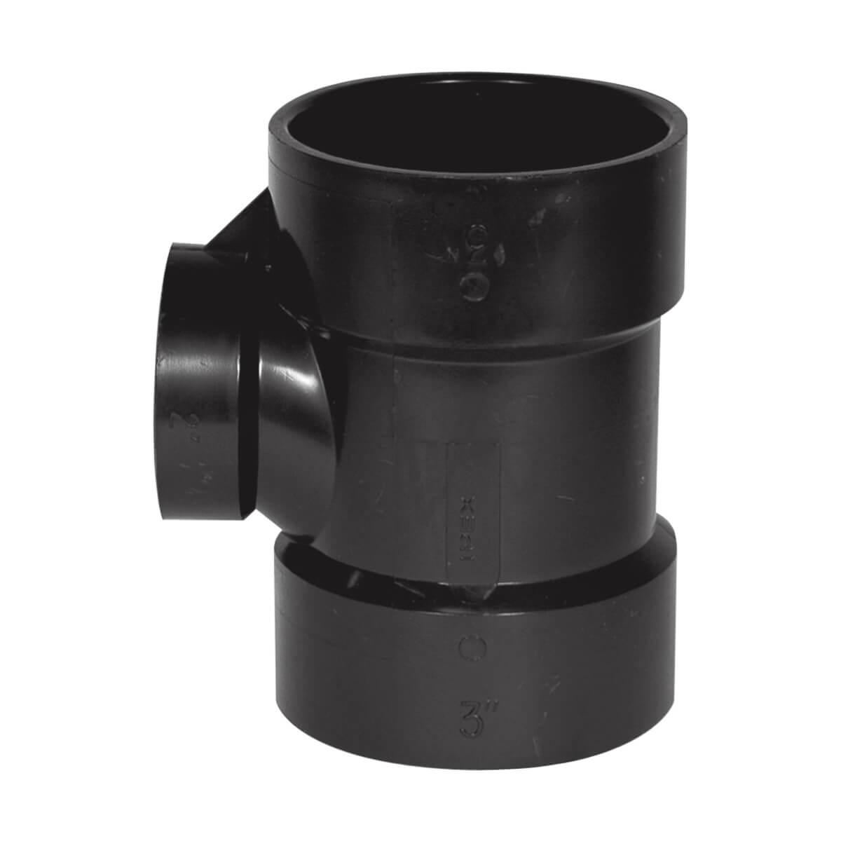 ABS-DWV Sanitary Tee - Hub - 3-in x 3-in x 2-in
