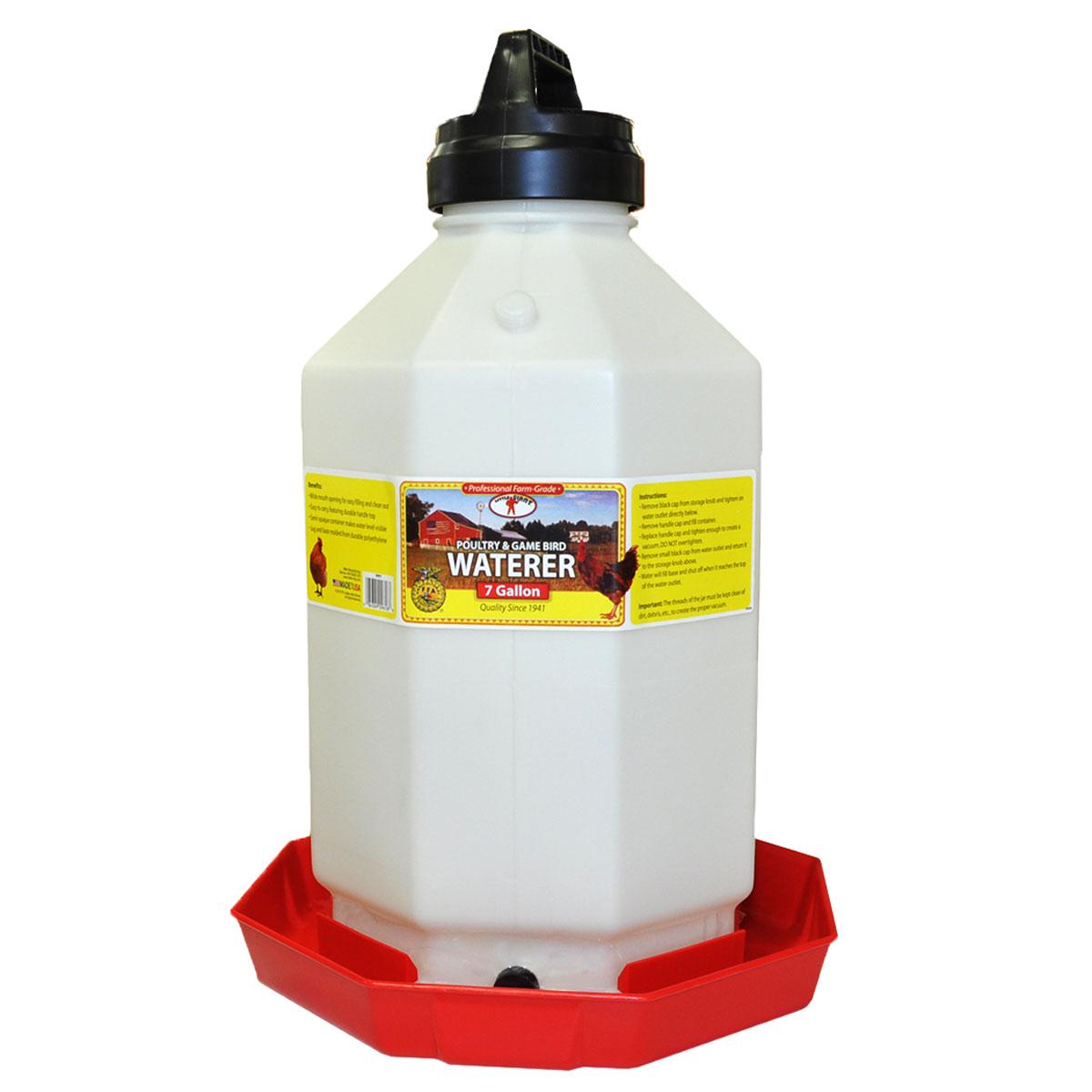 Plastic Poultry Waterer 7 Gallon  - PPF7