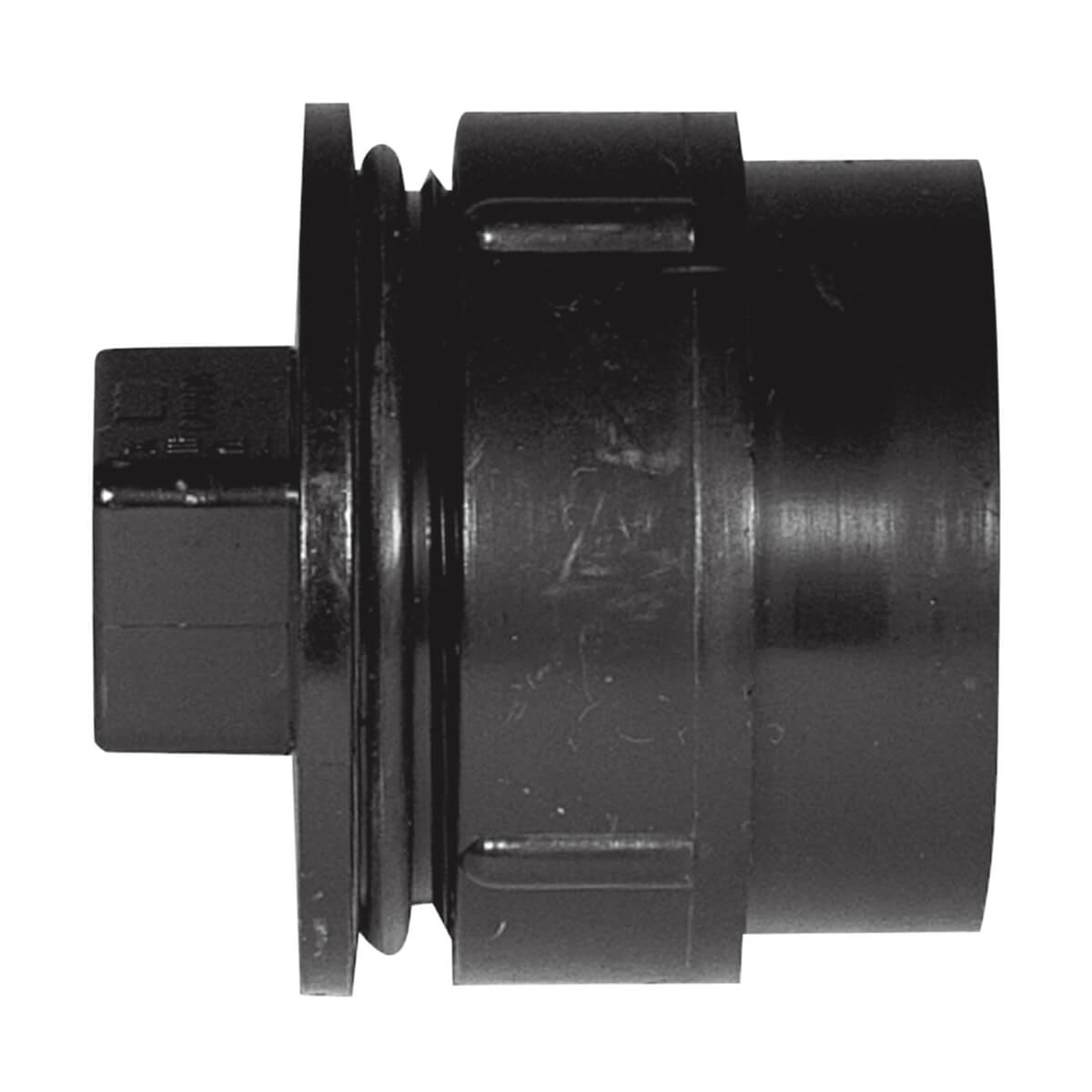ABS-DWV Cleanout Adapter with plug - Spigot x FPT - 3""