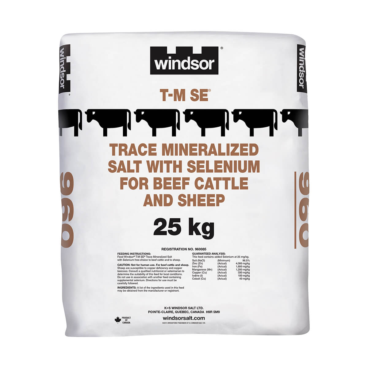 Windsor Trace Mineralized Stock Salt - T.M. Sel. - 25 kg - Bag