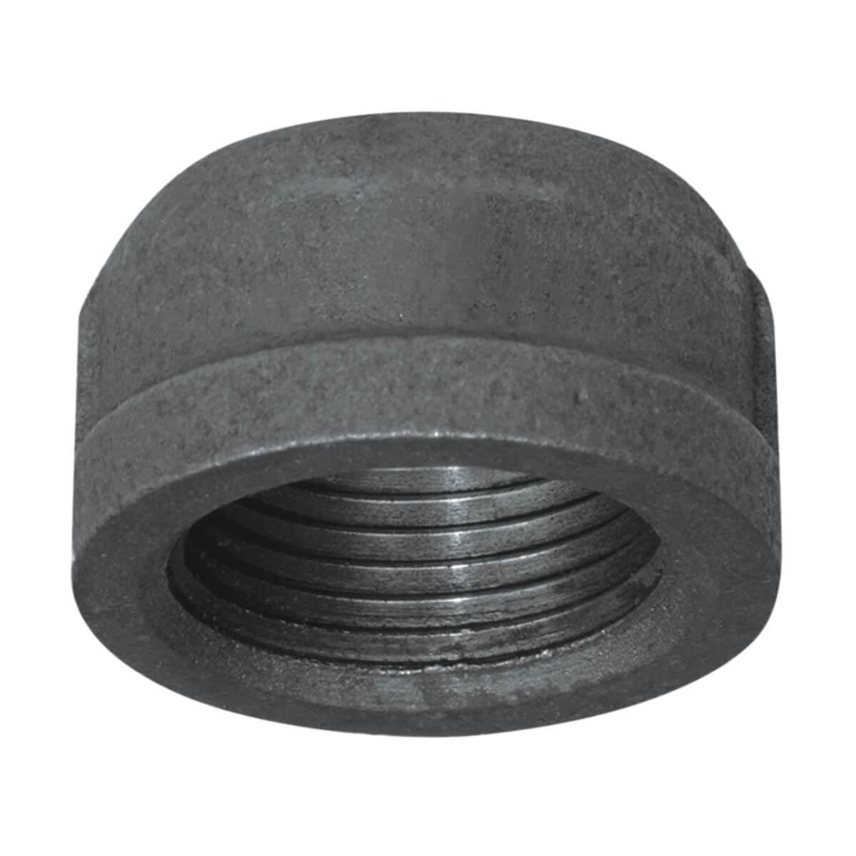 "Fitting Black Iron Cap 1"""