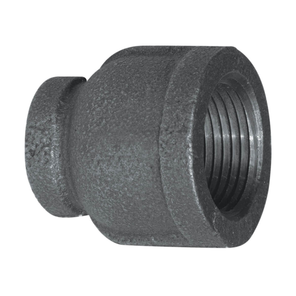 "Fitting Black Iron Reducer Coupling 1"" x 1/2"""
