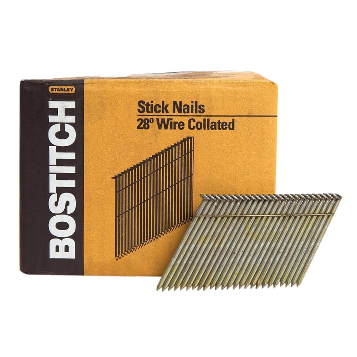 """20° Wire Weld Full Round Head Stick Framing Nails - 2-3/8"""" • ACQ"""