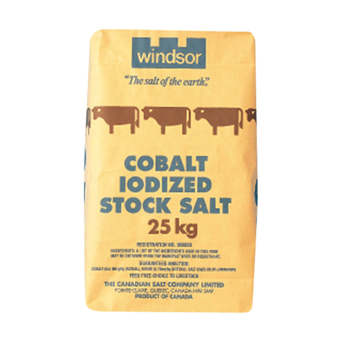 Windsor Cobalt Iodized Stock Salt - 25 kg - Bag