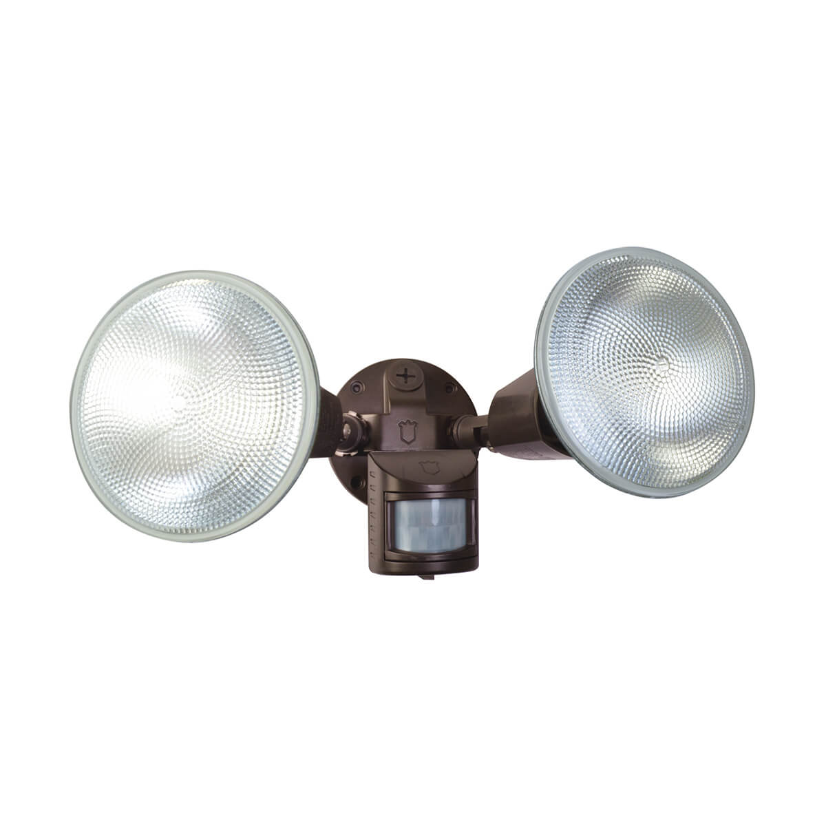 Dual Head 110° Motion Activated Security Light - Brown